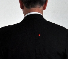 Location of bullet hole in President Kennedy's jacket